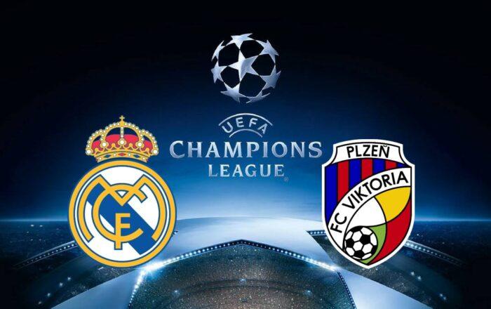 Real Madrid vs Viktoria Plzen Champions League
